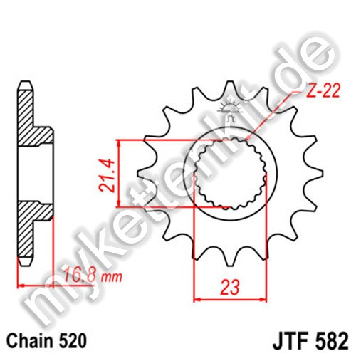 Ritzel JT Sprockets JTF582