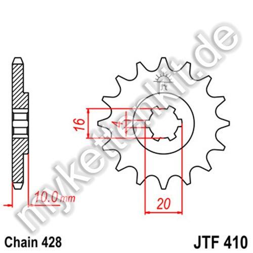 Ritzel JT Sprockets JTF410