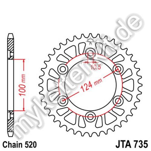 Kettenrad JTA735 Alu