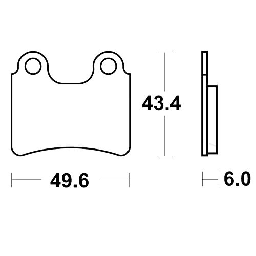 Bremsklotz Sinter RSI TRW MCB766RSI (1 Satz)