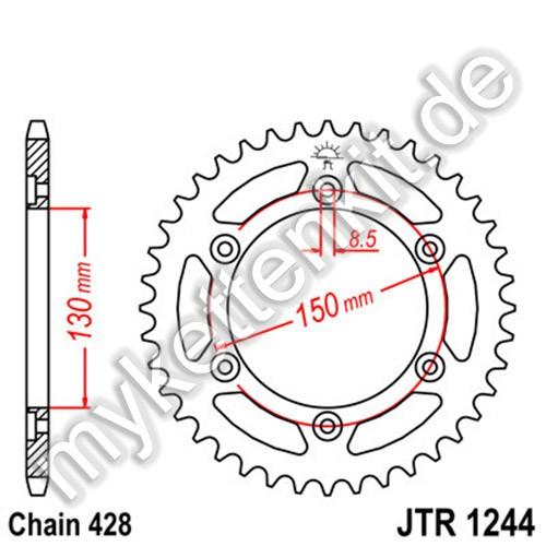 Kettenrad JTR1244 Stahl