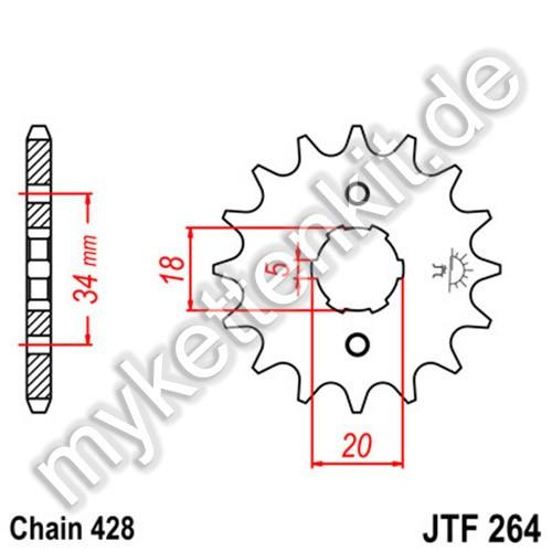 Ritzel JT Sprockets JTF264