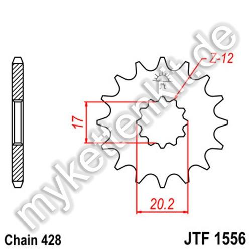 Ritzel JT Sprockets JTF1556