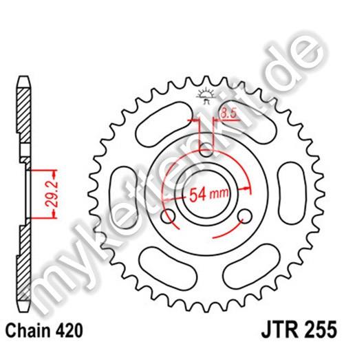 Kettenrad JTR255 Stahl