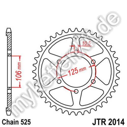 Kettenrad JTR2014 Stahl