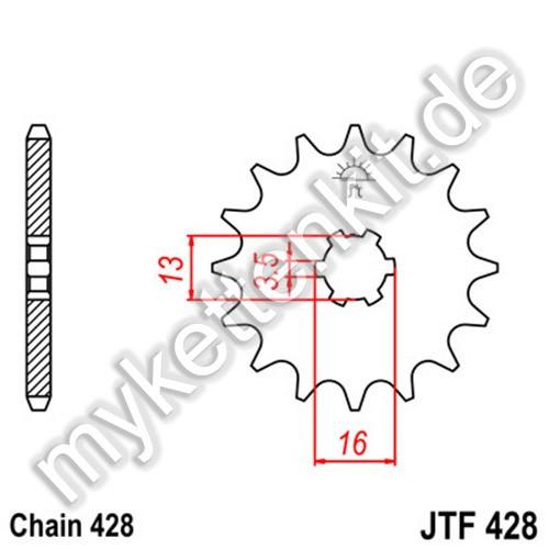 Ritzel JT Sprockets JTF428