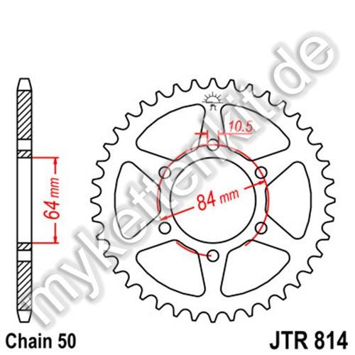 Kettenrad JTR814 Stahl