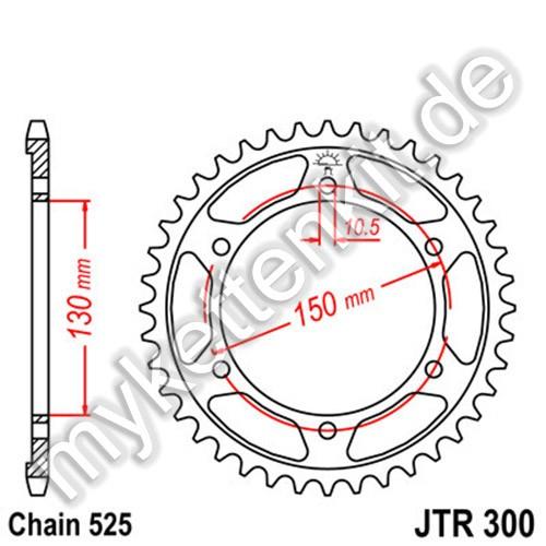 Kettenrad JTR300 Stahl