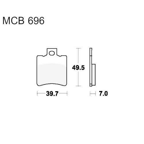 Bremsklotz Scooter TRW MCB696EC (1 Satz)