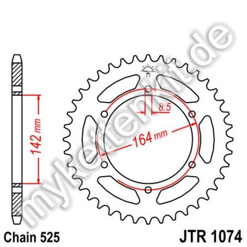 Kettenrad JTR1074 Stahl