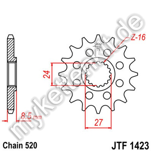 Ritzel JT Sprockets JTF1423