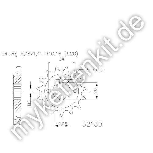 Ritzel Esjot R50-32180