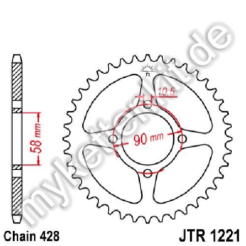 Kettenrad JTR1221 Stahl